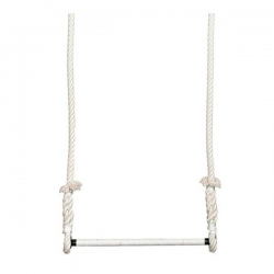 Trapeze Voltige Ecru barre 50cm diametre 25mm cordes 2,5m