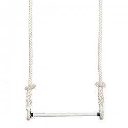 Trapeze Voltige Ecru barre 55cm diametre 25mm cordes 2,5m