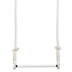 Trapeze Voltige Ecru barre 60cm diametre 25mm cordes 2,5m